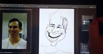 Cintiq Companion 2 ile Karikatur Denemesi